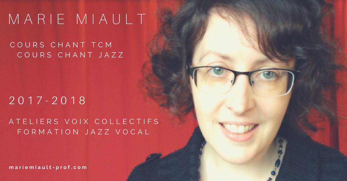 Cours de chant TCM, Cours de chant Jazz, Ateliers voix collectifs, Formation jazz vocal