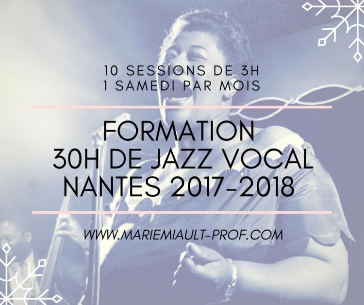 Formation jazz vocal à Nantes avec Marie Miault