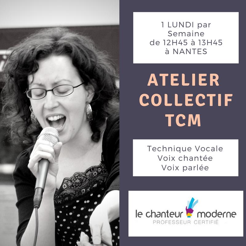Atelier collectif TCM hebdomadaire à Nantes (technique vocale), 2017-2018