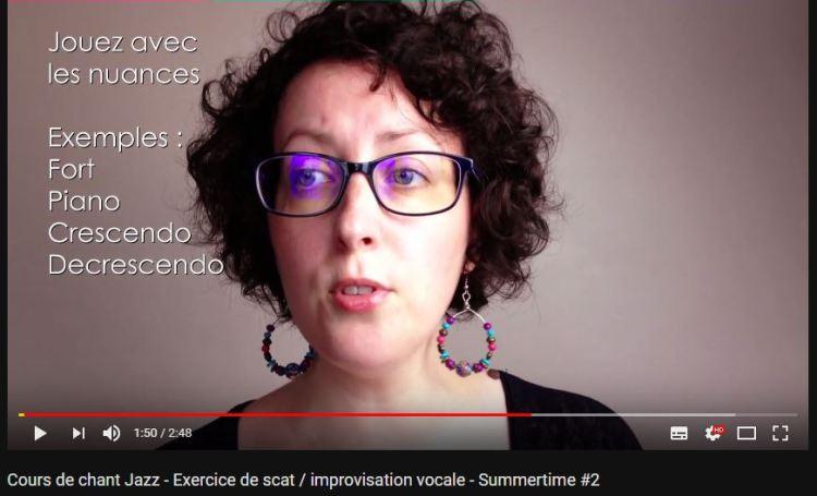 Exercice de scat et impro vocale en vidéo avec Marie Miault