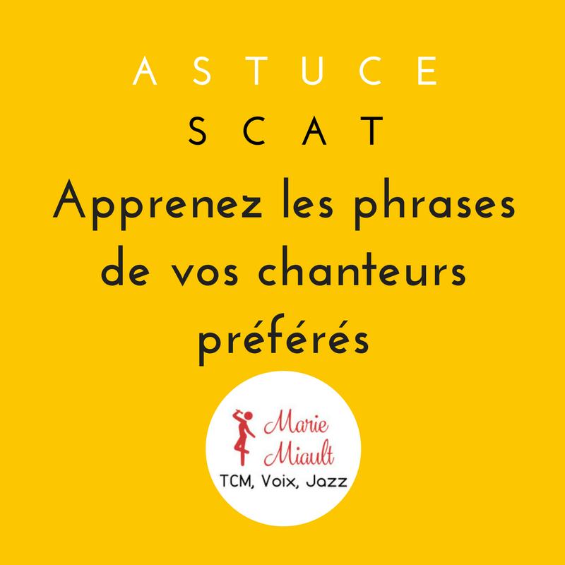 Astuce scat - jazz vocal