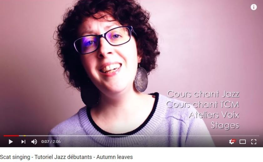 Tutoriel sur le scat dans le jazz vocal pour débutants avec Marie Miault