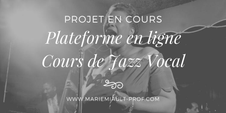 Plateforme en ligne pour apprendre le Jazz Vocal