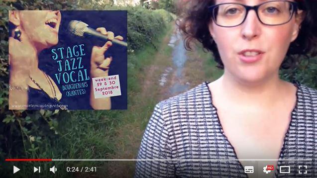 Stage Jazz Vocal, 29-30 septembre 2018, Nantes : présentation vidéo