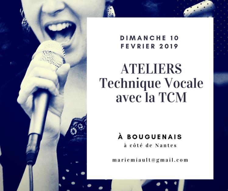 Atelier technique vocale TCM 10 février 2019 nantes