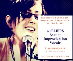 Atelier de scat et d'improvisation vocale à Nantes, Sud Loire