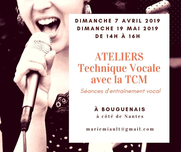 Atelier de technique vocale avec la TCM à côté de Nantes, sud loire