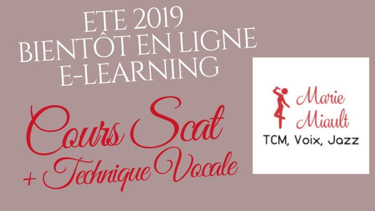 Cours de scat + technique vocale, elearning