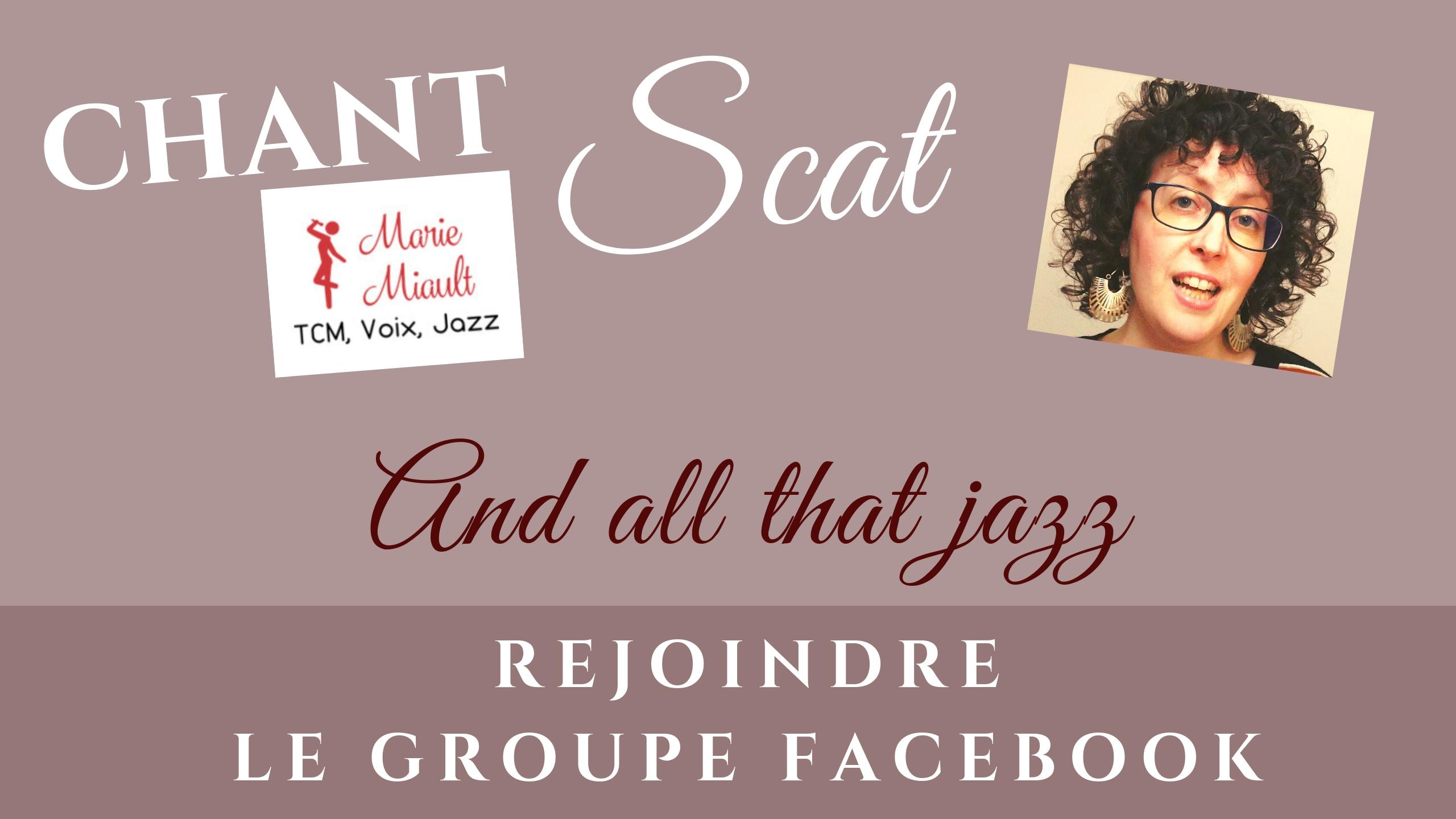 Rejoindre le groupe facebook Marie Miault Chant, Jazz, Scat - le réseau
