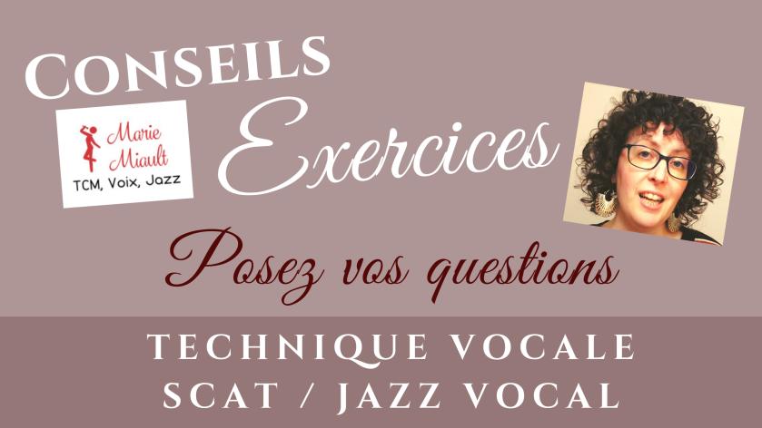 Conseils et exercices personnalisés en vidéo, chant, technique vocal, jazz, scat et improvisation