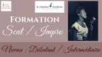 Formation scat et improvisation vocale à Nantes, niveau débutant et intermédiaire, 2019-2020