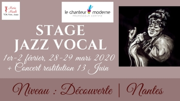 Stage jazz vocal découverte, Nantes 2020