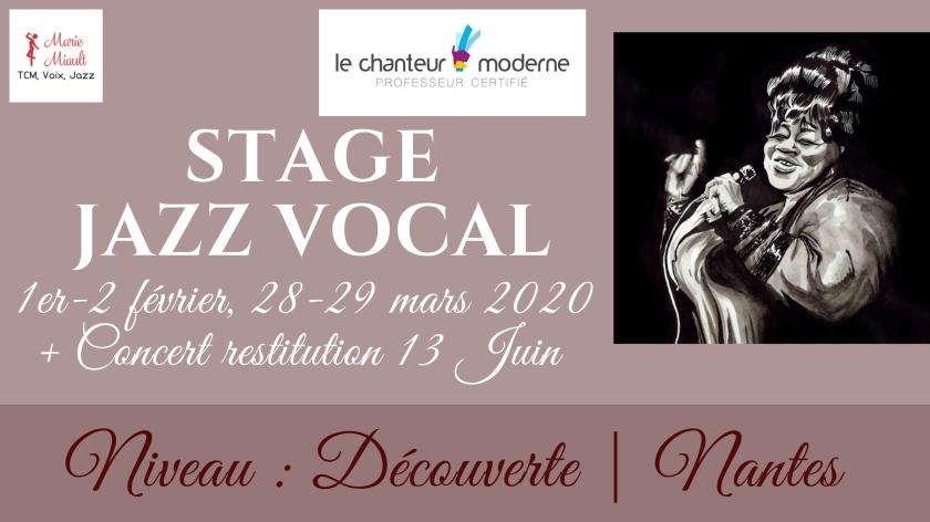 Stage jazz vocal découverte, Nantes 2020