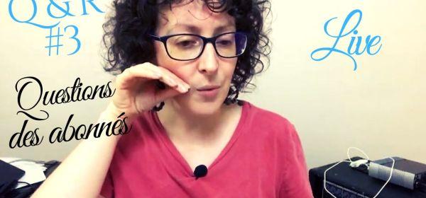 Live Chant, jazz, Scat : questions des abonnés